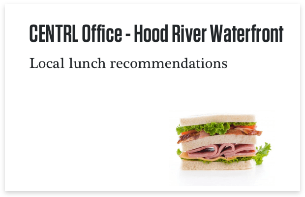 Hood River Waterfront Lunch Recommendations