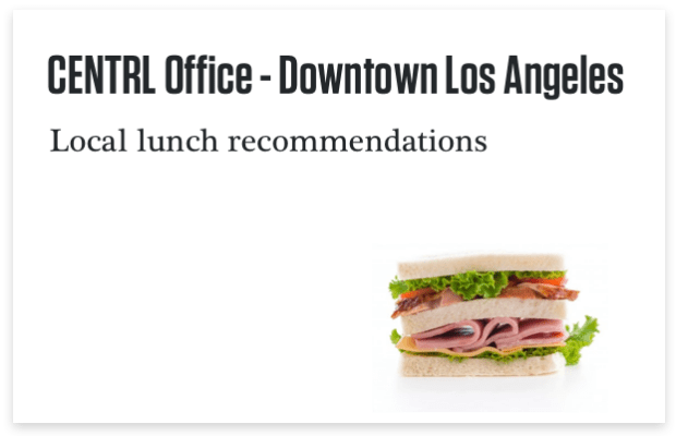Los Angeles Arts District Lunch Recommendations